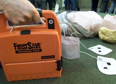 The defibrillator (similar to the one pictured here) was stolen in the early hours of Wednesday morning.