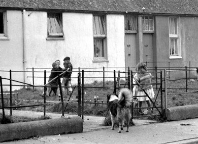 Children play in Dublin in the 1960s.