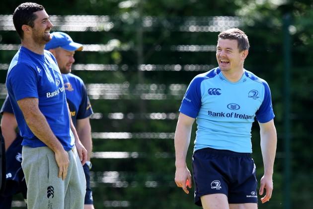 Rob Kearney and Brian O'Driscoll