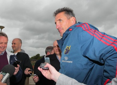 Rob Penney at today's press briefing at U.L.