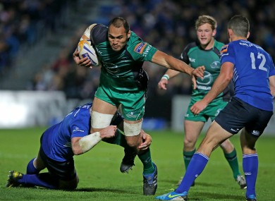 George Naoupu in action against Leinster this season.