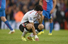 Liverpool let three-goal lead slip leaving Suarez in tears and title bid in tatters