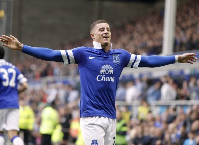 Barkley has starred for Everton this season.
