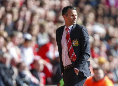 Manchester United caretaker manager Ryan Giggs.