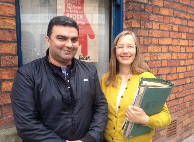 Natig Sadygov with Hilkka Becker, Senior Solicitor of the Immigrant Council of Ireland.