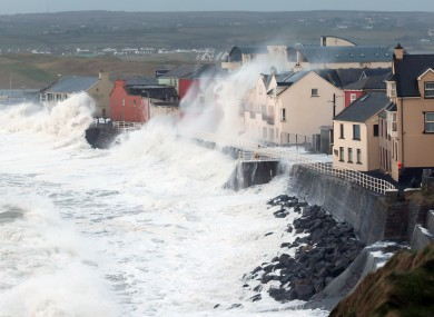Lahinch is battered by storms last winter