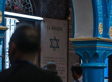 Jewish pilgrims gather at the Ghriba synagogue in Tunisia