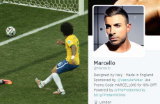 Twitter went nuts at a random English model named Marcello after Brazil's own goal