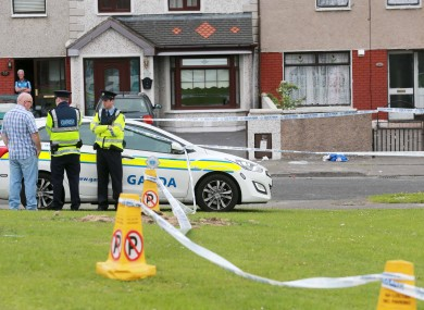 Gardai at the scene of a shooting on Croftwood Grove in Ballyfermot.