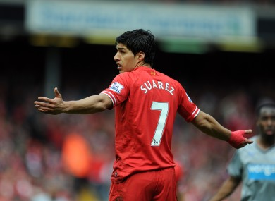 Luis Suarez scored 31 goals in 33 appearances in the most recent Premier League campaign.