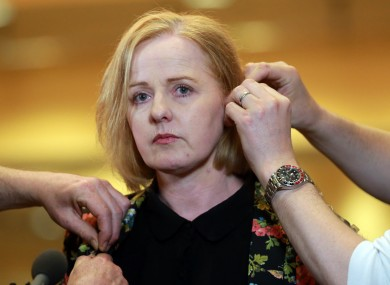 Ruth Coppinger at the count centre last month.