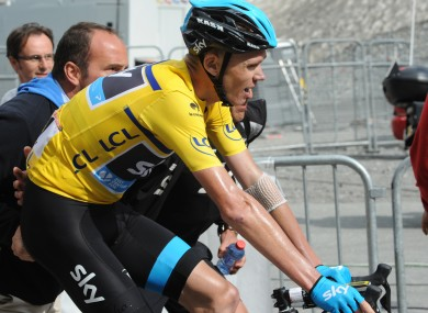 Chris Froome pictured at the Criterium du Dauphine.