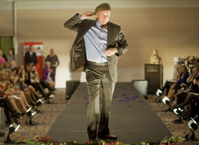 Arthur Spring takes part in the Oireachtas Christmas Charity Fashion Show at the Shelbourne Hotel in Dublin in 2012.