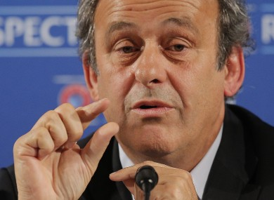 Michel Platini: UEFA president at centre of controversy.