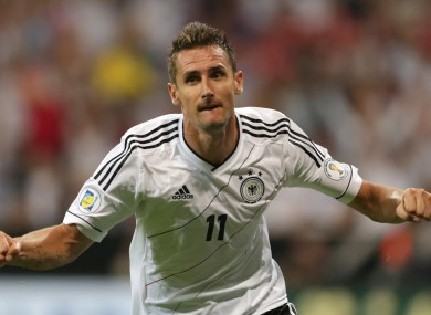 Klose is alongside Gerd Muller in joint-second on the all-time World Cup goalscorers list, one behind Brazil's Ronaldo.