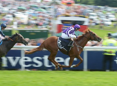 Australia ridden by Joseph O'Brien winning the Investec Derby.