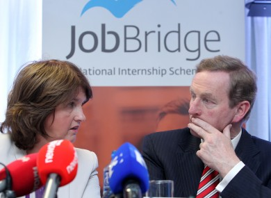 Joan Burton and Taoiseach Enda Kenny (File photo)