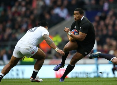Tuilagi and Savea will be on opposite wings for England and New Zealand.