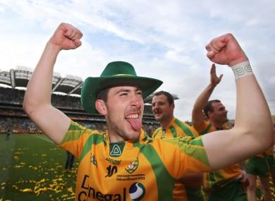 Mark McHugh celebrates after the 2012 All-Ireland final.
