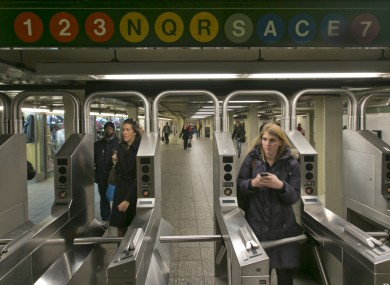 The Times Square subway station.