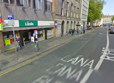 A stretch of College Green close to where the incident occurred.