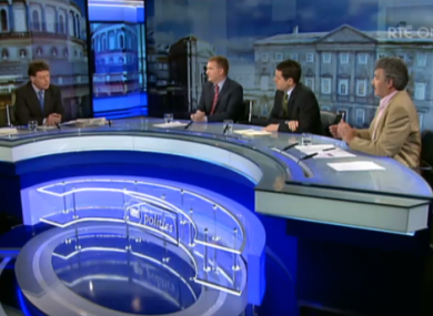 Host David Davin-Power and Michael McGrath, Paschal Donohue and John Halligan
