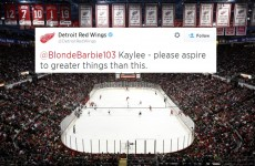 Detroit's ice hockey team gave a girl on Twitter some sage life lessons