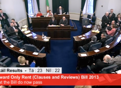 The government lost a vote on upward only rent reviews in the Seanad last February