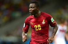 Take a bow Kwadwo Asamoah after this sublime cross for Ghana's goal against Portugal