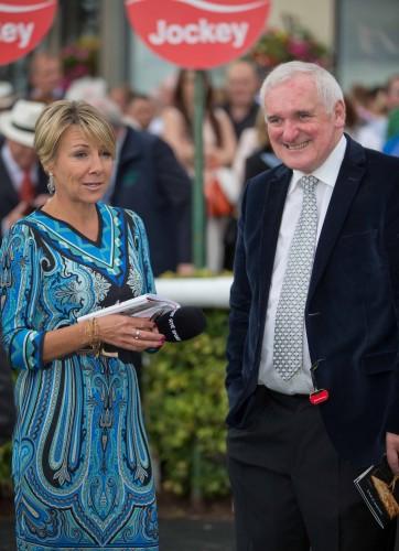 Tracey Piggott with former Taoiseach Bertie Ahern