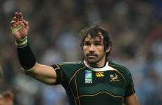 Victor Matfield named 'Boks captain three years after international retirement
