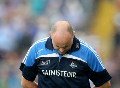 Anthony Daly dejected in Thurles today.