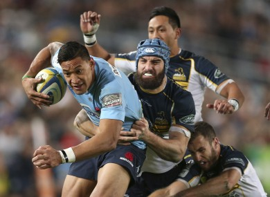 Israel Folau will line out for the 'Tahs against Ben Smith of the 'Landers after the Sydney Convicts play at Allianz Stadium.