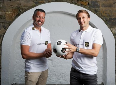 Guinness Plus brings football legends to Dublin: Sky Sports La Liga pundits Gaizka Mendieta and Guillem Balague visit the Manor Inn, Swords.