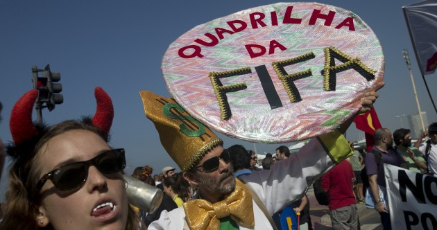'F**k FIFA' – Brazilians protest at World Cup costs as Silva awaits redemption