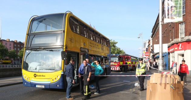 Man seriously injured after being 'pushed into bus' at Aston Quay