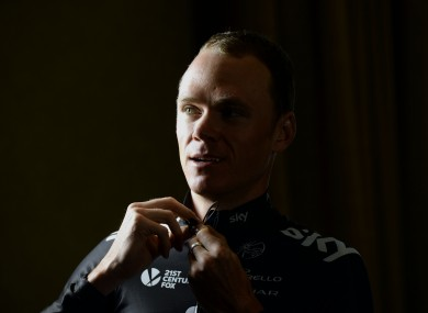 Chros Froome: rift with former Tour team leader Wiggins.