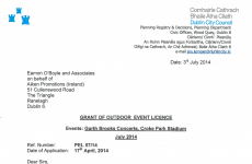 The documents: Here's exactly why the Garth Brooks gigs were refused permission