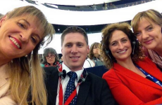 It's the first day of the new European Parliament and these Irish MEPs were really excited