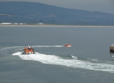 The RNLI lifeboats launching this afternoon to rescue the family