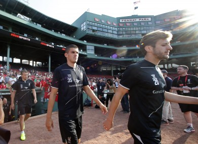 Adam Lallana at Fenway Park in Boston last week.