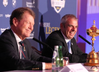 Ryder Cup captains Tom Watson and Paul McGinley will be on our screens quite a bit this autumn.