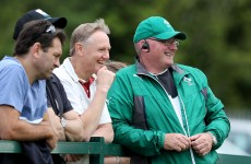 Joe Schmidt and Katie Taylor look on as Ireland Women win final World Cup warm-up