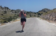 Irish couple runs through a swarm of locusts, just for the craic