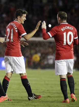 Ander Herrera and Wayne Rooney.