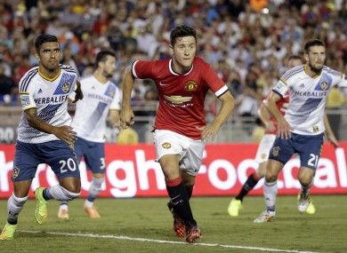 Herrera impressed in United's tour opener against the LA Galaxy.