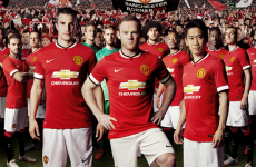 Manchester United unveil their new Chevrolet-sponsored home kit
