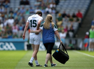 Brophy was forced off following a heavy tackle from Kevin Reilly in the Leinster SFC semi-final.