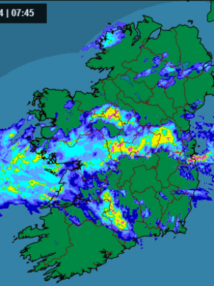 The kind of rainfall radar that makes you want to stay in bed.