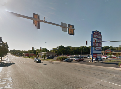 The incident happened at this intersection on Street Road.